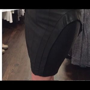 Guess black leather skirt